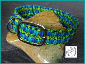 Paracordhalsband verstellbar, Hundehalsband geflochten