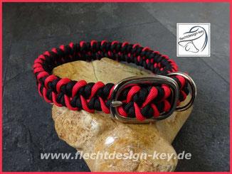 Paracord Halsband, Flechthalsband, geflochtenes Halsband