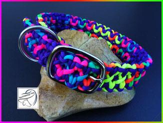 Paracordhalsband, geflochtenes Hundehalsband
