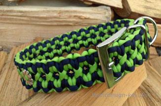 Halsband verstellbar, dunkelblau/apfelgrün, ca. 3,5cm breit, Starlight Express
