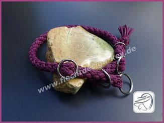 Größenverstellbares Halsband mit Zugstopp, 12fach rund geflochten