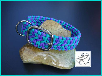 Paracord Hundehalsband, geflochtenes Hundhalsband, Wide Solomon