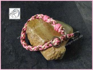 Zugstopp Halsband aus Paracord 8-fach rund geflochten