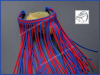 Stirnband mit Fliegenfransen aus Paracord geflochten