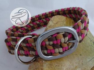 Hundehalsband verstellbar aus Paracord geflochten