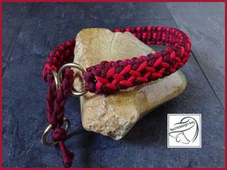 Hundehalsband Paracord, geflochtenes Hundehalsband mit Zugstopp