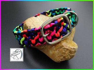 Paracord Hundehalsband, geflochtenes Hundhalsband, Starlight Express