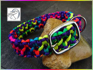 Verstellbares Paracord Hundehalsband mit Schnalle