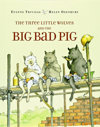 The three little wolves and the big bad pig in Greek