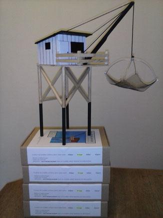 carrelet cabane maquette charente maritime  royan fouras meschers modèle réduit décoration