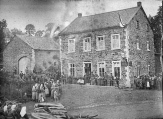 Gaststätte Drilling um 1892 zum Besuch der Belgischen Königin