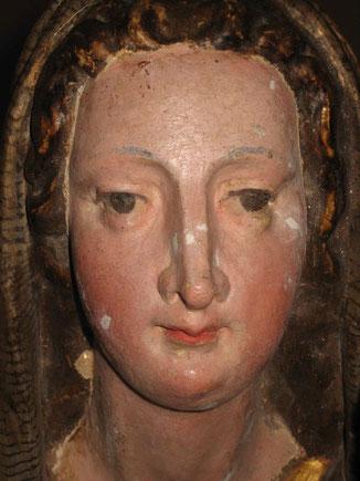 Maria, nach der Freilegung und Kitten