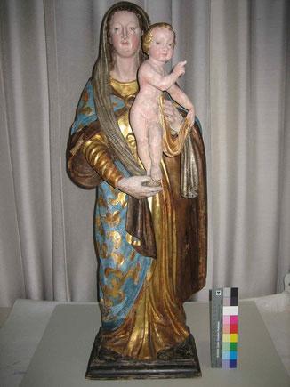 Madonna mit Kind, nach den Massnahmen