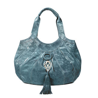 Sumba - Sea green large leather shopper handbag