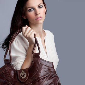 Boho style luxe leather shopper handbag