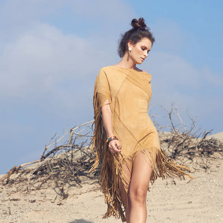 SHOP BOHO SUEDE PONCHOS WITH FRINGES