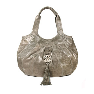 Sumba - Khaki green large leather shopper handbag