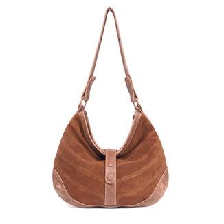 Yoko - tan large leather crossbody tote bag