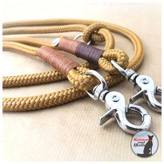 Hundeleine von Komm und bleib aus Tau, Seil, PP-Seil