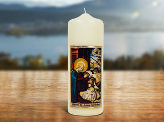 Kloster St. Anna Produkt; Kerze mit Jesus Kind