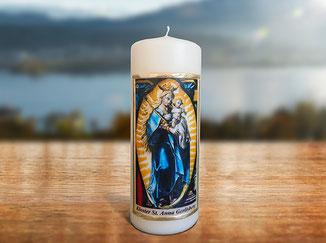 Kloster St. Anna Produkt; Kerze mit Sujet Papillon, Sommervogel, Schmetterling