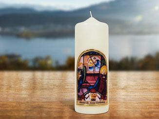 Kloster St. Anna Produkt; Kerze mit Engel Gabriel
