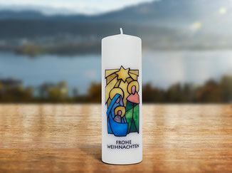 Kloster St. Anna Produkt; Kerze Frohe Weihnachten