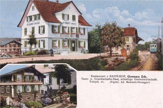 Ansichtskarte, ca. von 1920. Zugestellt von A. Leutenegger