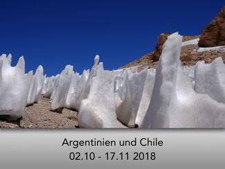 Büßerschneefelder in Argentinien