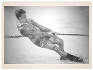 inna-bredereck-auftragsmalerei-portraitzeichnung-kunstwerk-seilziehen-tauziehen-junge-kraft
