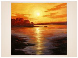 auftragsmalerei-inna-bredereck-acrylgemaelde-oelfarbe-kunstwerk-galerie-meer-sonnenuntergang-sonnenaufgang-spiegelung