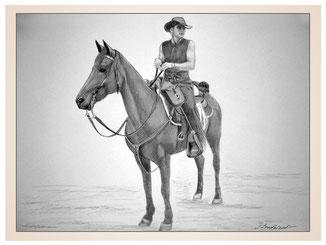 auftragsmalerei-inna-bredereck-kunstwerk-pferdeportrait-cowboy-sattel-pferd