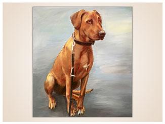 auftragsmalerei-inna-bredereck-kunstwerk-portrait-vorstehhund-leine-sitz