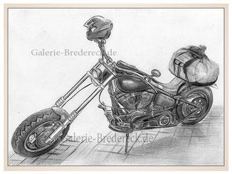auftragsmalerei-inna-bredereck-kunstwerk-gegenstaende-shopper-motorrad-gepaeck