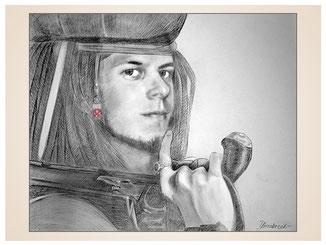 inna-bredereck-auftragsmalerei-portraitzeichnung-kunstwerk-pistole-krieger-junger-mann