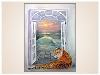 auftragsmalerei-inna-bredereck-acrylgemaelde-oelfarbe-kunstwerk-galerie-tiger-fenster-meer