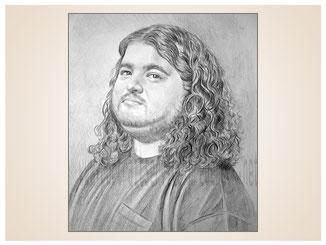 inna-bredereck-auftragsmalerei-portraitzeichnung-kunstwerk-mann-haare-locken-bart