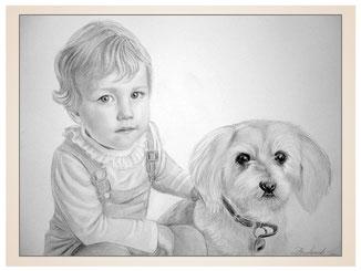 inna-bredereck-auftragsmalerei-familienportrait-kunstwerk-portraitzeichnungen-kind-hund-halsband