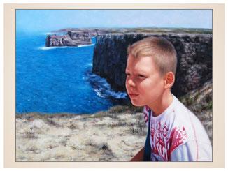 inna-bredereck-auftragsmalerei-portraitzeichnung-kunstwerk-meer-felsen-junge-wasser