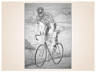 auftragsmalerei-inna-bredereck-kunstwerk-gegenstaende-gegenstandsmalerei-radrennfahrer-sportler-fahrradsport-rennrad