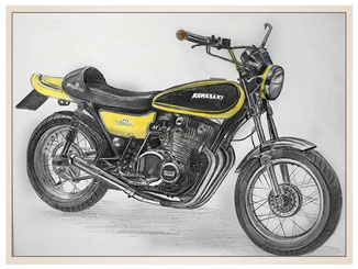 auftragsmalerei-inna-bredereck-kunstwerk-gegenstaende-gelbes-motorrad-kawasaki-sport