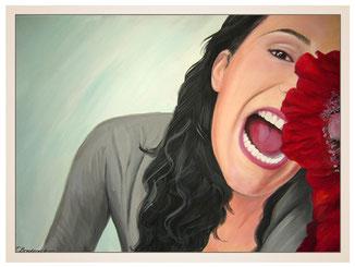 inna-bredereck-auftragsmalerei-portraitzeichnung-kunstwerk-frau-mund-zaehne-blumen-haare