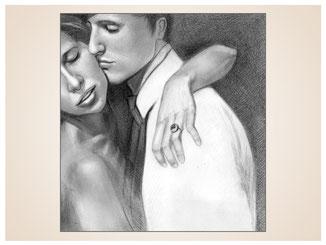 inna-bredereck-auftragsmalerei-kohlezeichnung-erotik-aktzeichnung-aktmalerei-kunstwerk-paar-schnusen-kuscheln-mann-frau