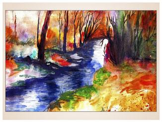 auftragsmalerei-inna-bredereck-acrylgemaelde-oelfarbe-kunstwerk-galerie-bachlauf-baeume-ufer