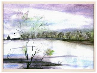 auftragsmalerei-inna-bredereck-acrylgemaelde-oelfarbe-kunstwerk-galerie-haus-landschaft-see-gefroren-eisflaeche
