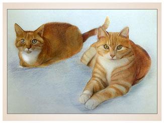 auftragsmalerei-inna-bredereck-kunstwerk-portrait-roter-tiger-kater-katzen