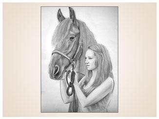 auftragsmalerei-inna-bredereck-kunstwerk-pferdeportrait-maedchen-pferdekopf-halfter