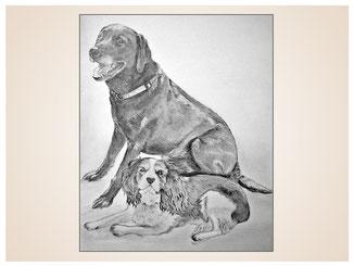 auftragsmalerei-inna-bredereck-kunstwerk-portrait-hundepaar-labrador