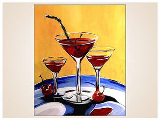 auftragsmalerei-inna-bredereck-glaeser-cocktail-kirschen-strohhalm-kunstwerk