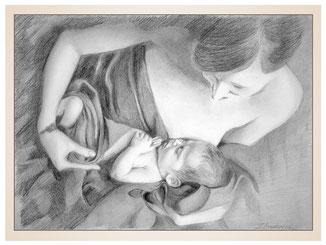 inna-bredereck-auftragsmalerei-familienportrait-kunstwerk-portraitzeichnungen-saeugling-mutter-frau-decke